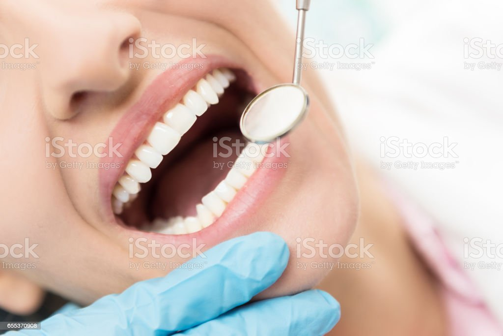 To have a healthy teeth ! stock photo