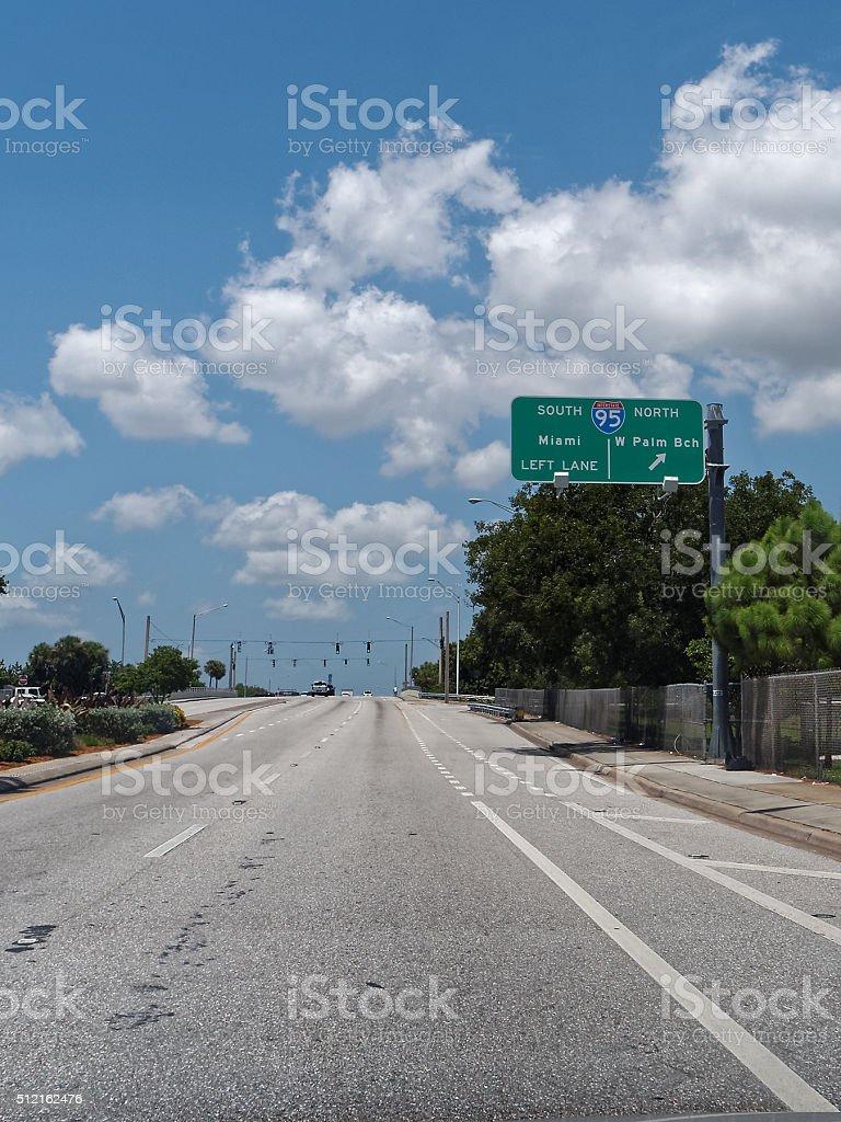 To Highway Interstate I-95 stock photo