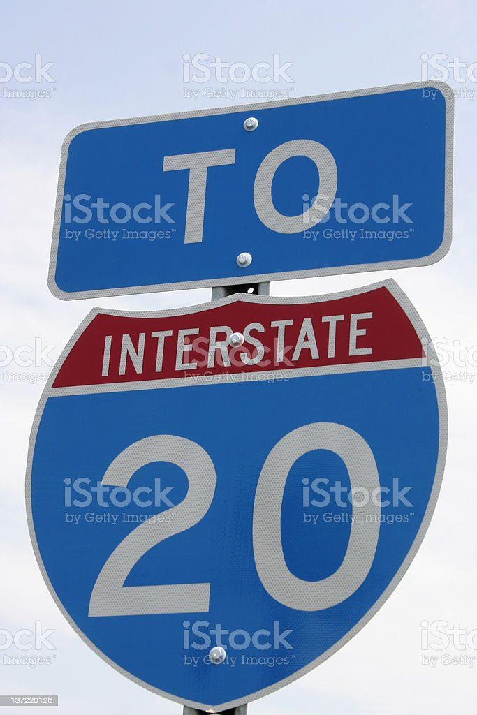 To Interstate 20 royalty-free stock photo