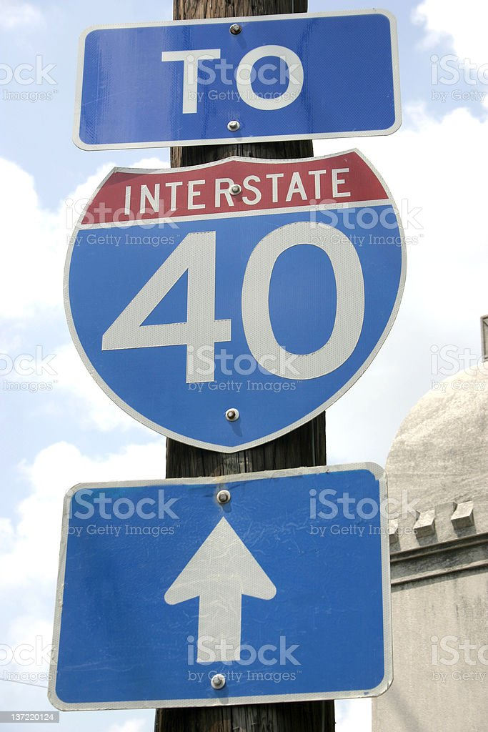 To Interstate 40 royalty-free stock photo