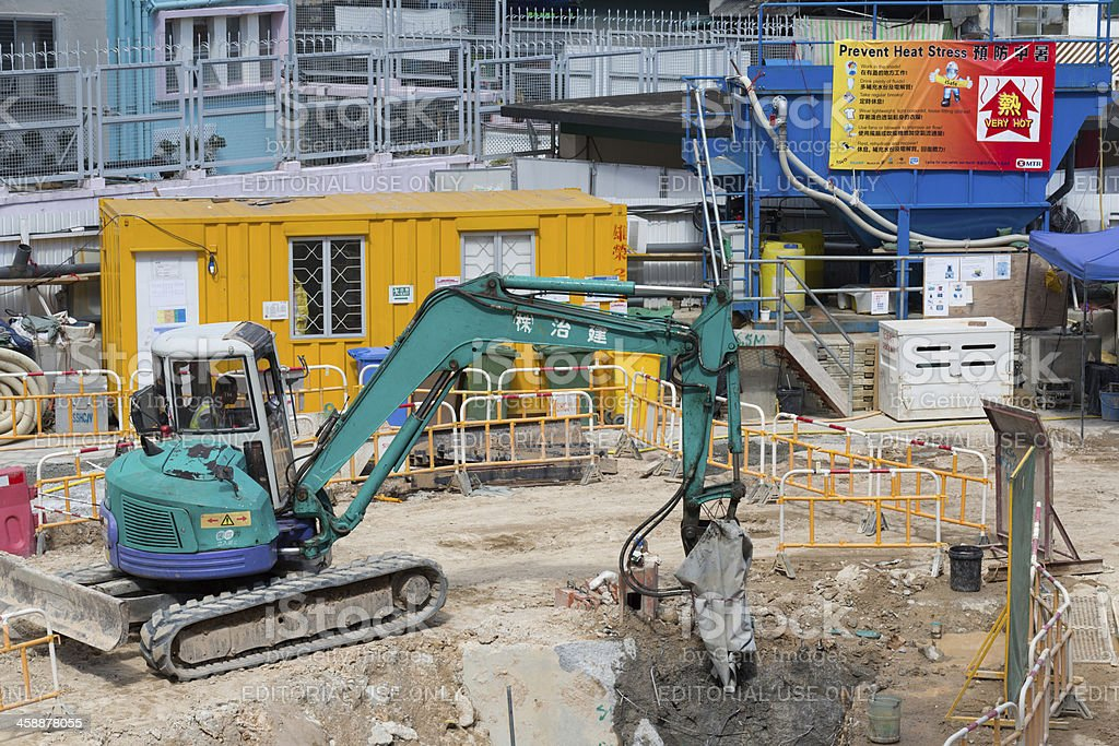 Shatin to Central Link Construction Site in Hong Kong royalty-free stock photo