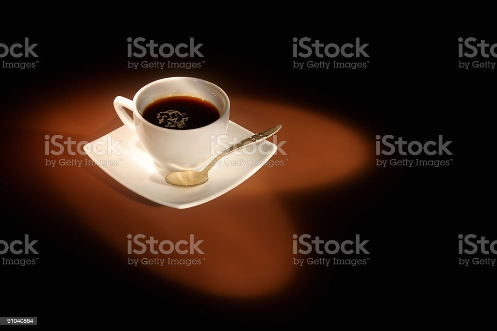 To love coffee (with spoon) royalty-free stock photo