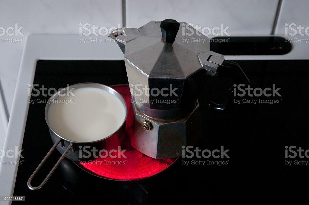 to make coffee stock photo