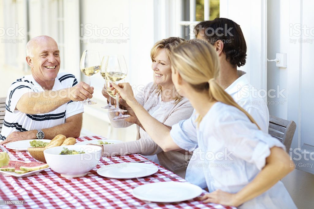 To many more happy mealtimes! royalty-free stock photo