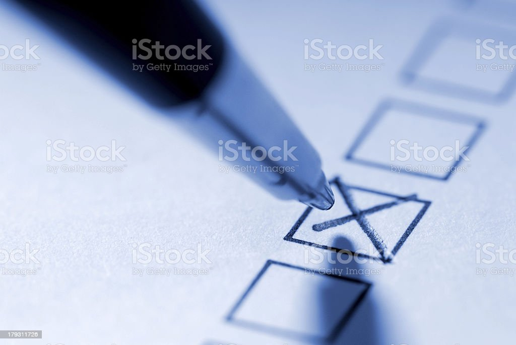 To mark with a cross royalty-free stock photo