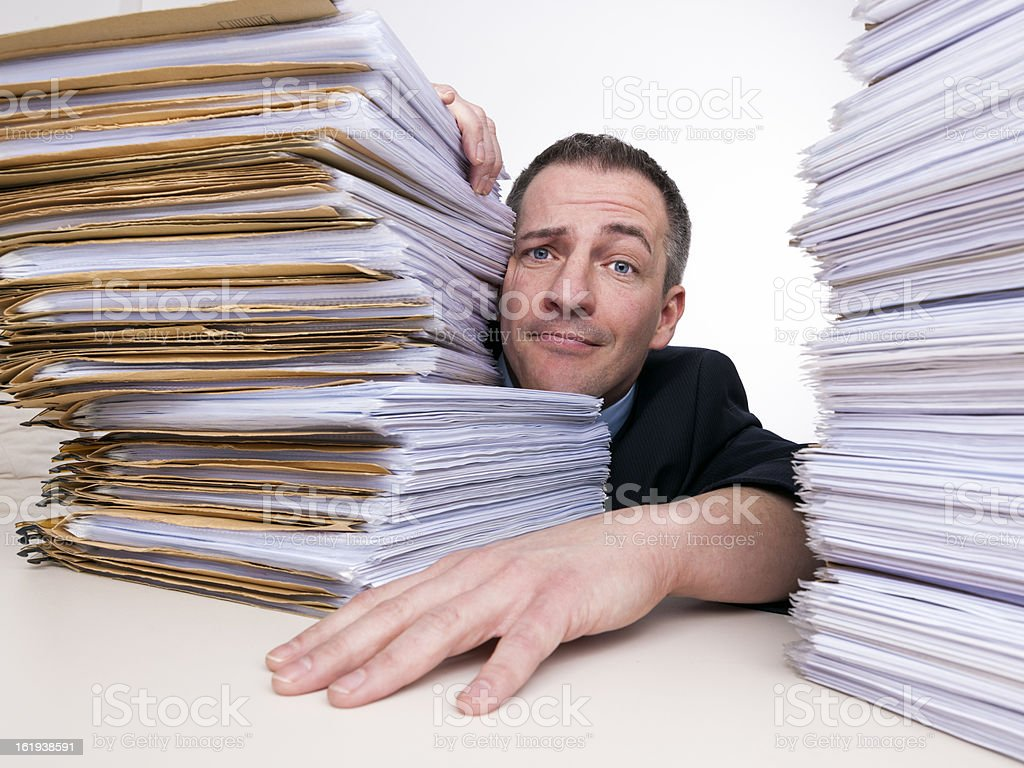 To much  work for one II royalty-free stock photo