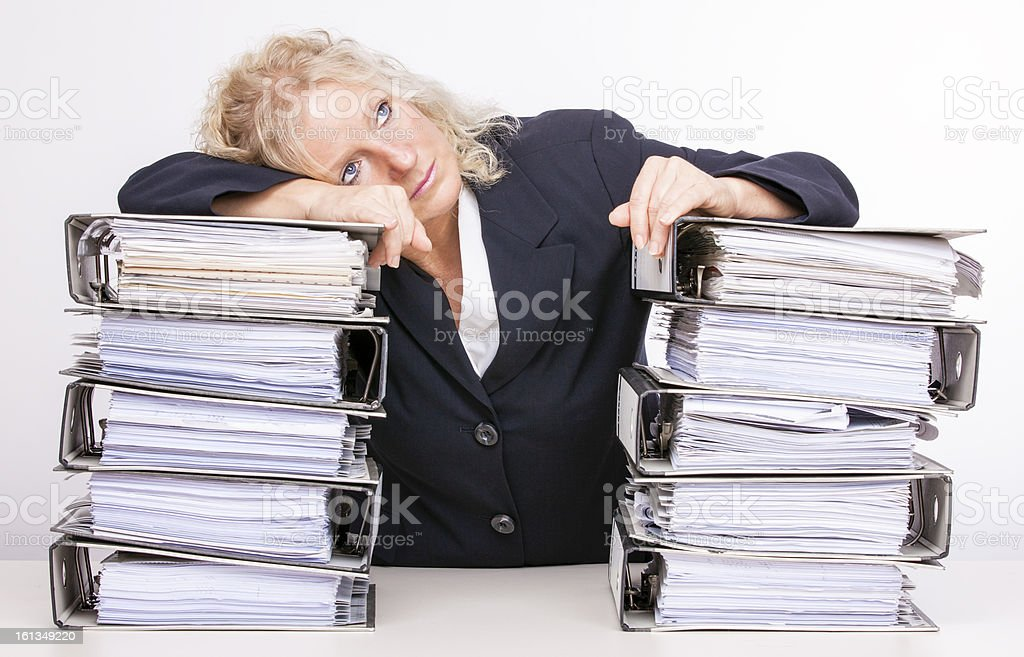 To much  work for one secretary II royalty-free stock photo