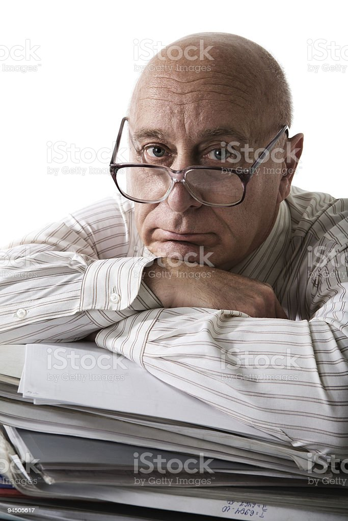 To much work royalty-free stock photo