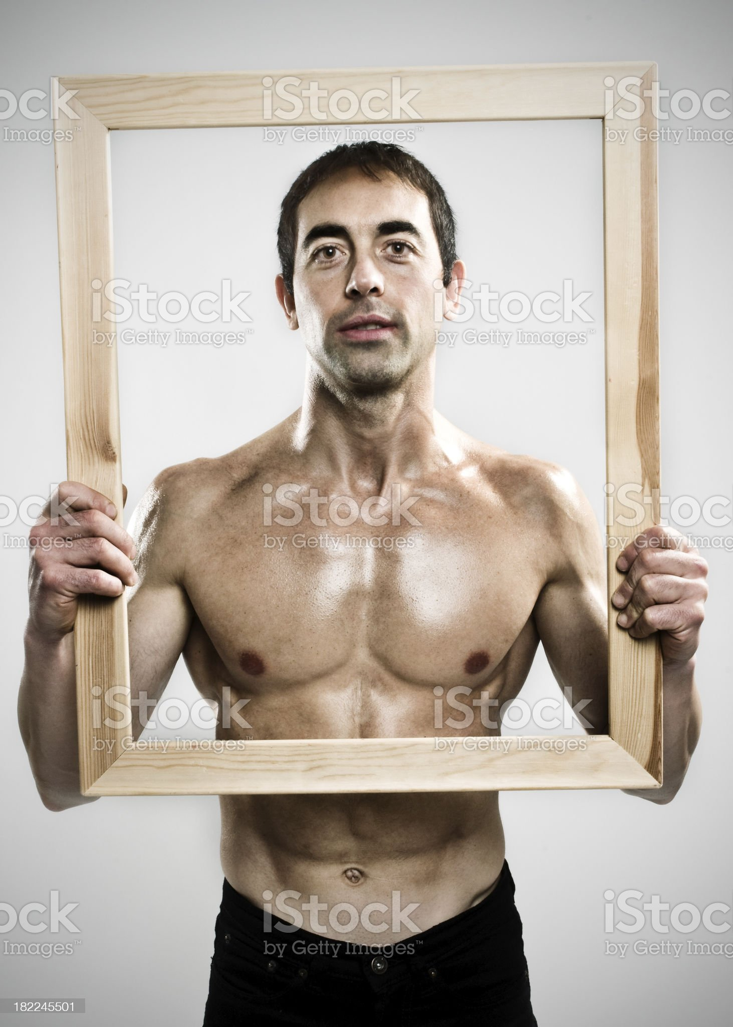 To place with a frame royalty-free stock photo