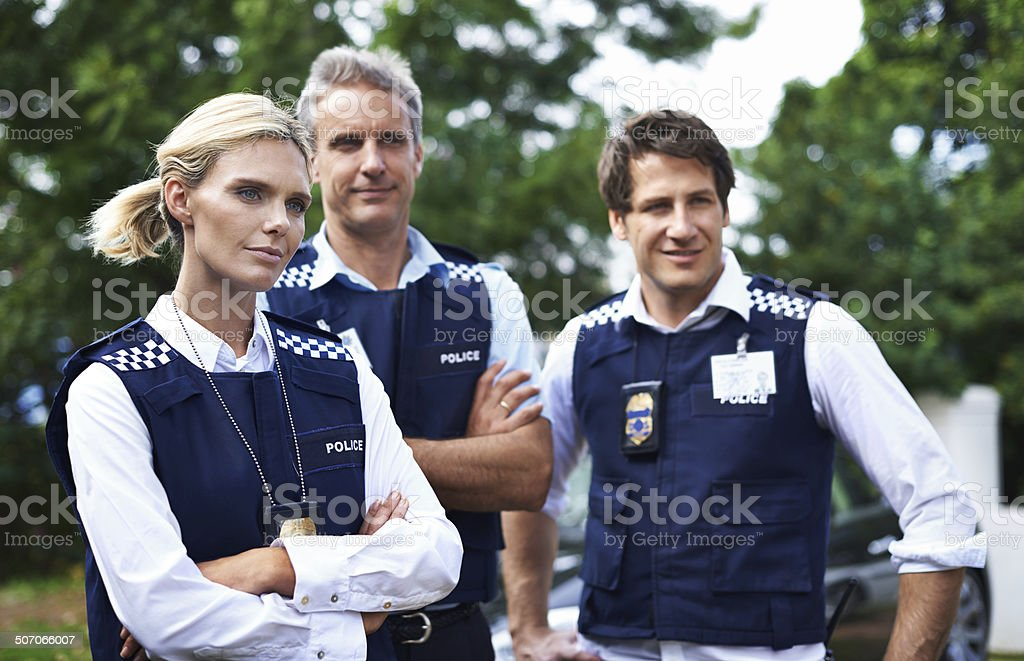 To protect and serve stock photo