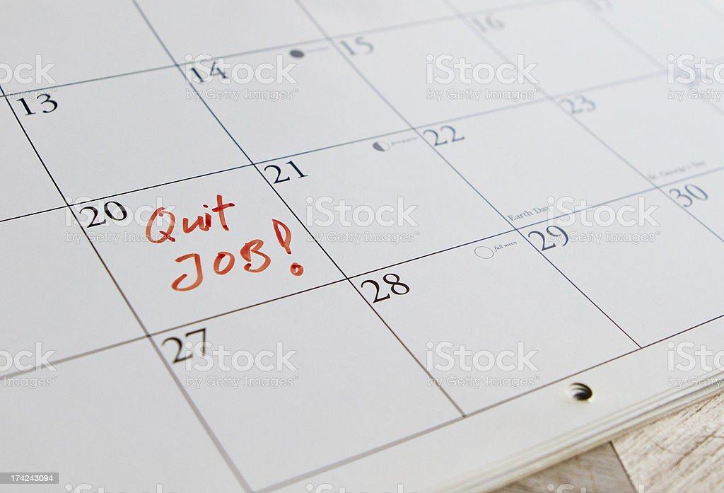 To quit job stock photo