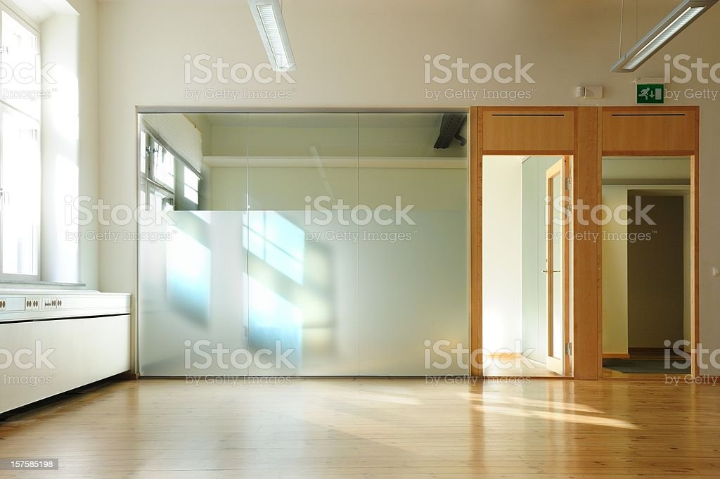 To Rent: Bright sunlit office royalty-free stock photo