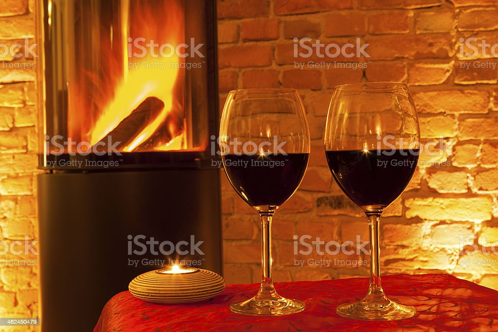 To sit by the fireside royalty-free stock photo