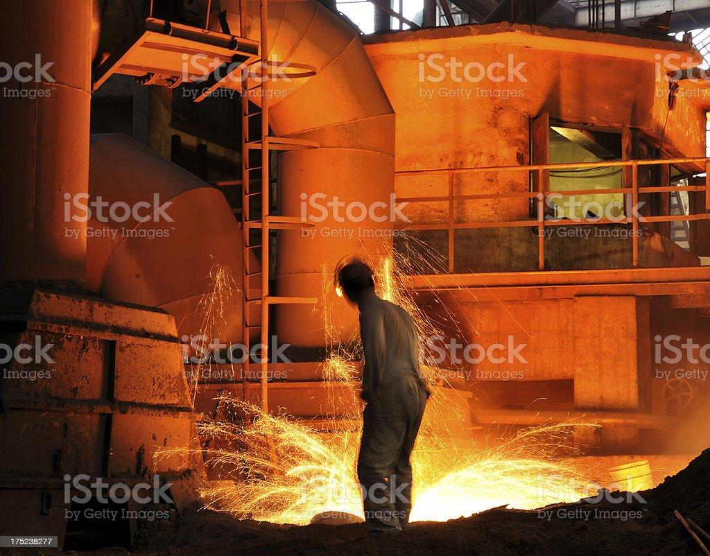 To smelt iron royalty-free stock photo