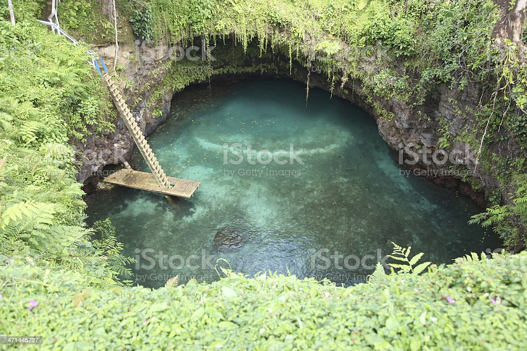 To Sua trench, Samoa stock photo