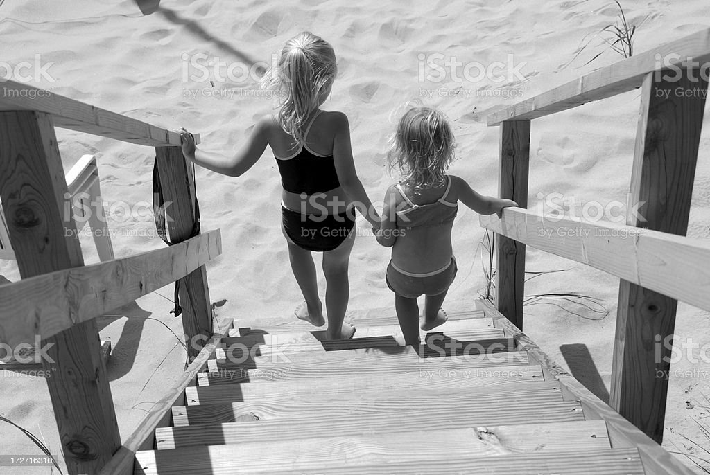 to the beach royalty-free stock photo