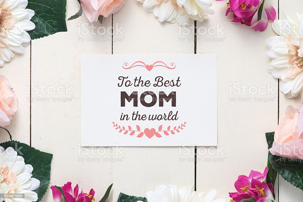 To the best Mom in the world stock photo