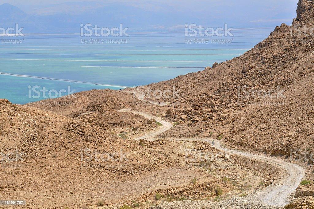 To the Dead Sea stock photo