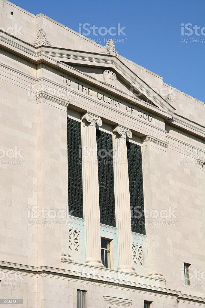 To The Glory Of God, Masonic Temple, Freemasons, Dayton, Ohio royalty-free stock photo