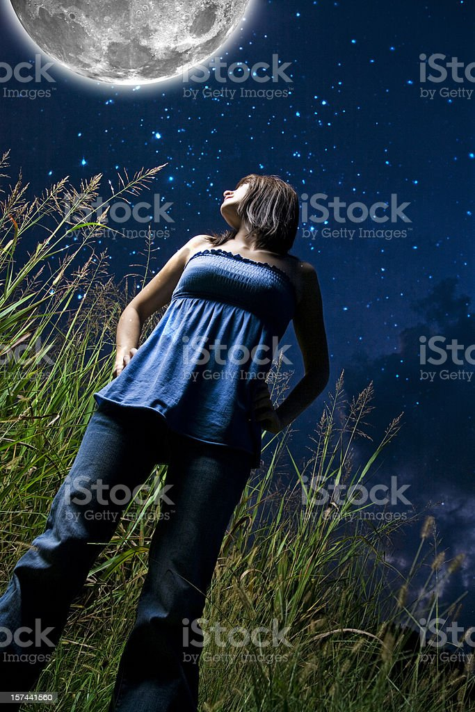 to the moon royalty-free stock photo