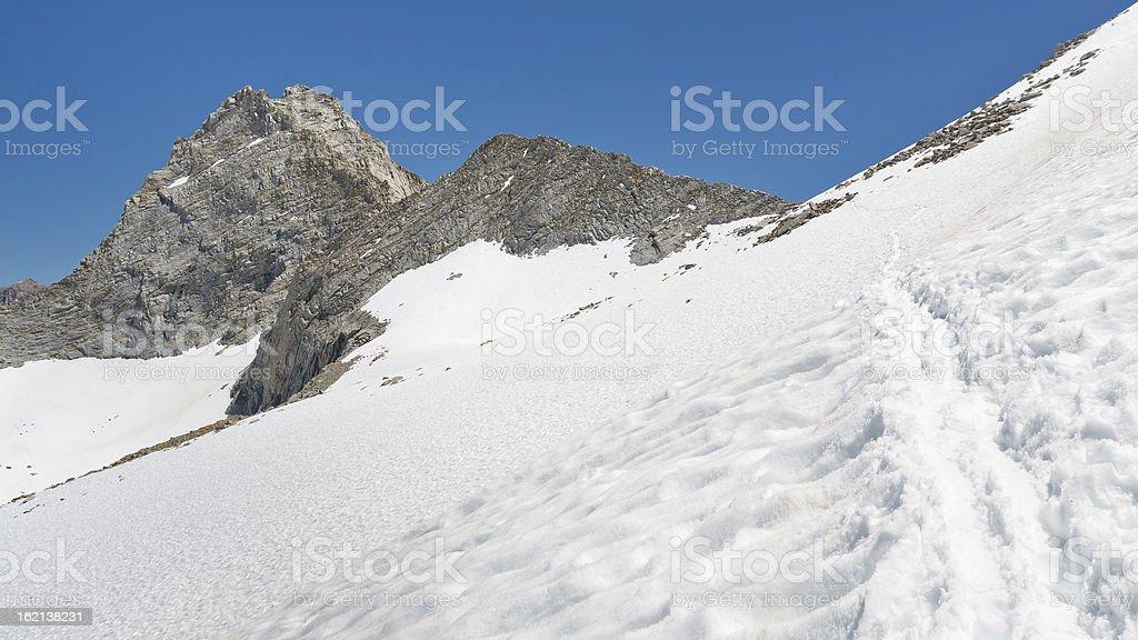 To the Mountain Pass stock photo