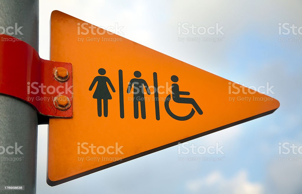 To the Restrooms royalty-free stock photo