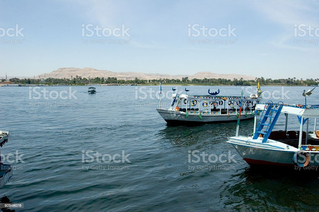To the West Shore of Nile River stock photo