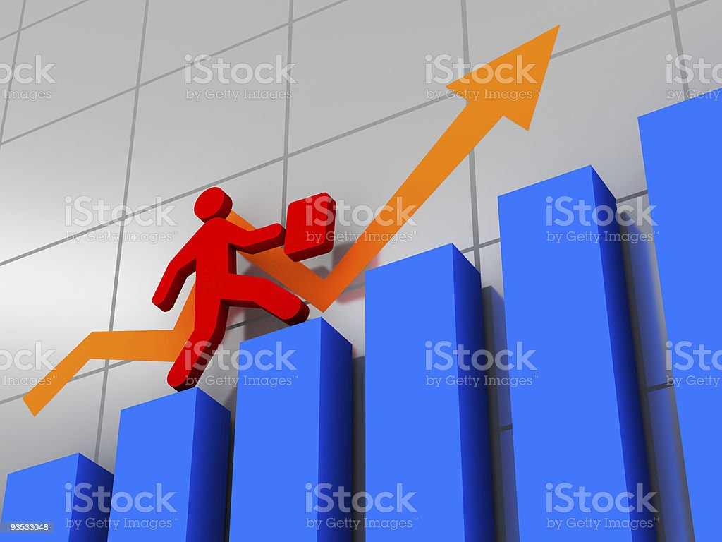 To tops of success ladder royalty-free stock photo