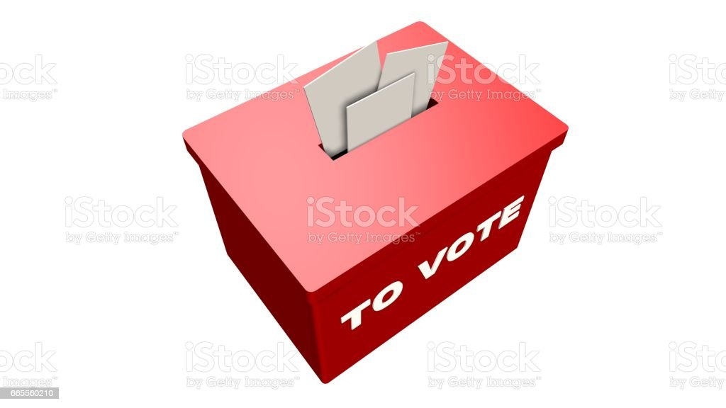 To Vote - Nominate, Candidate, Suggestion Box isolated on white stock photo