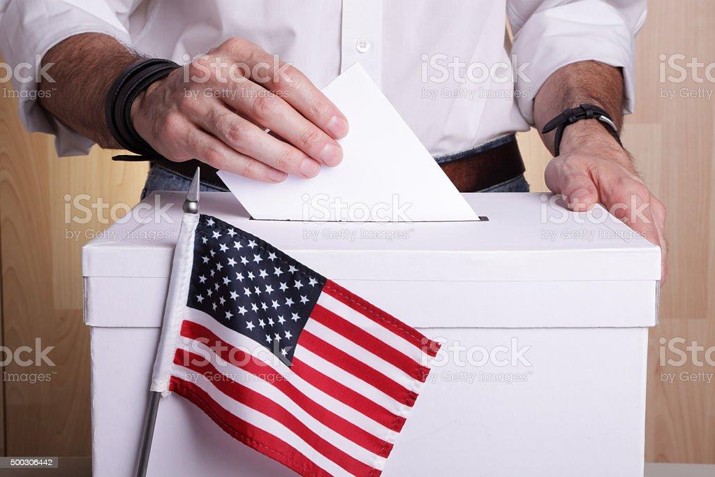 US to vote stock photo