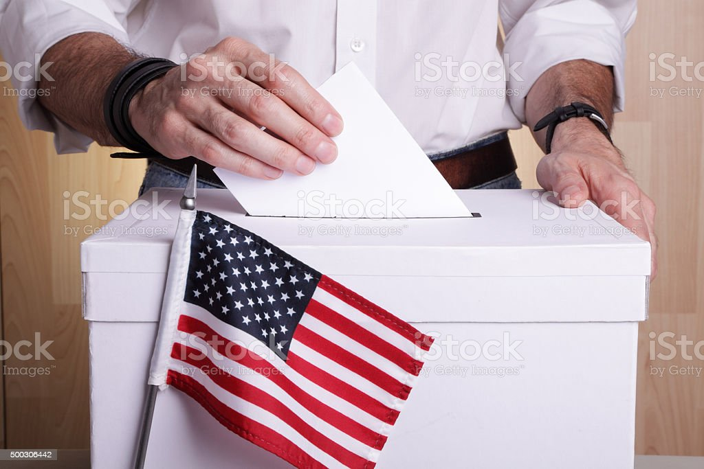 US to vote stock photo