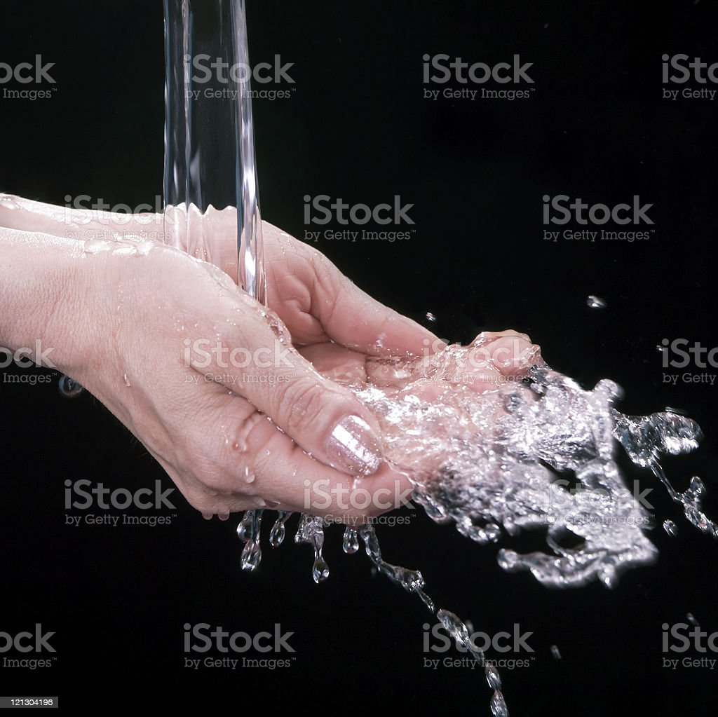 To wash hands stock photo