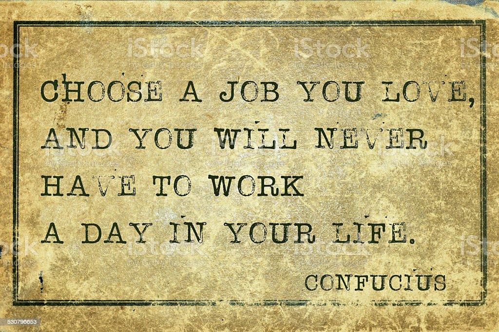 to work Confucius stock photo