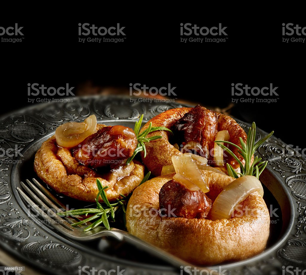 Toad in the Hole stock photo