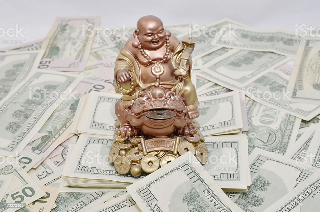 Toad luck Zen makes money royalty-free stock photo