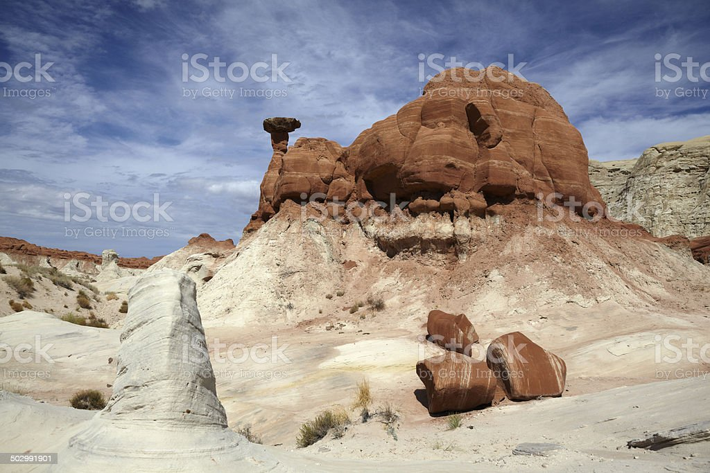 Toadstool Rock Formation, Paria, Utah, USA royalty-free stock photo