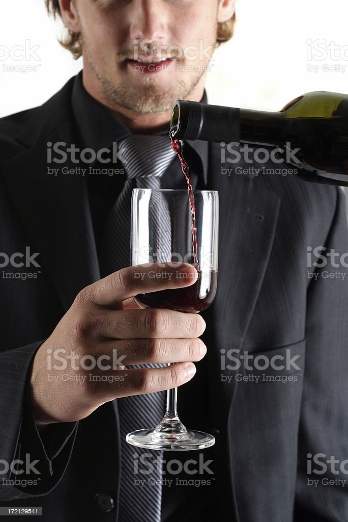 Toast after a business deal stock photo