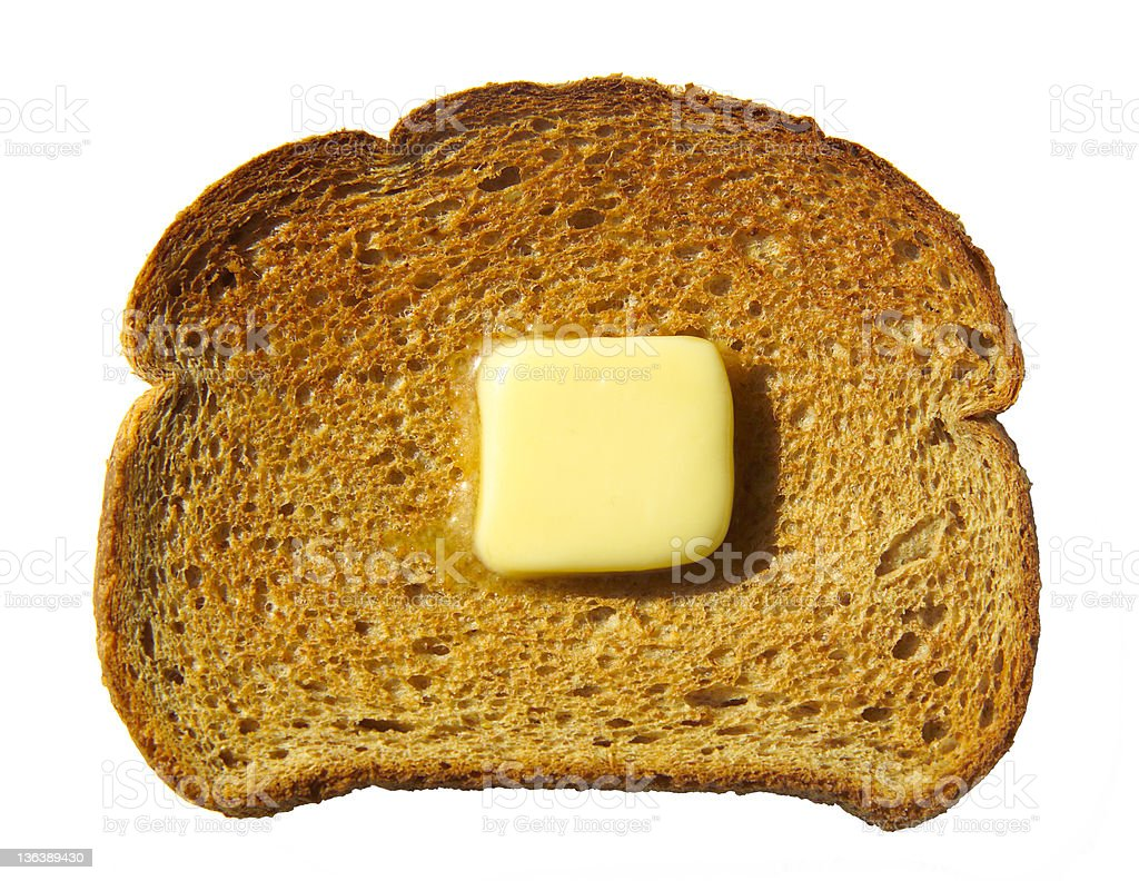 toast and butter royalty-free stock photo