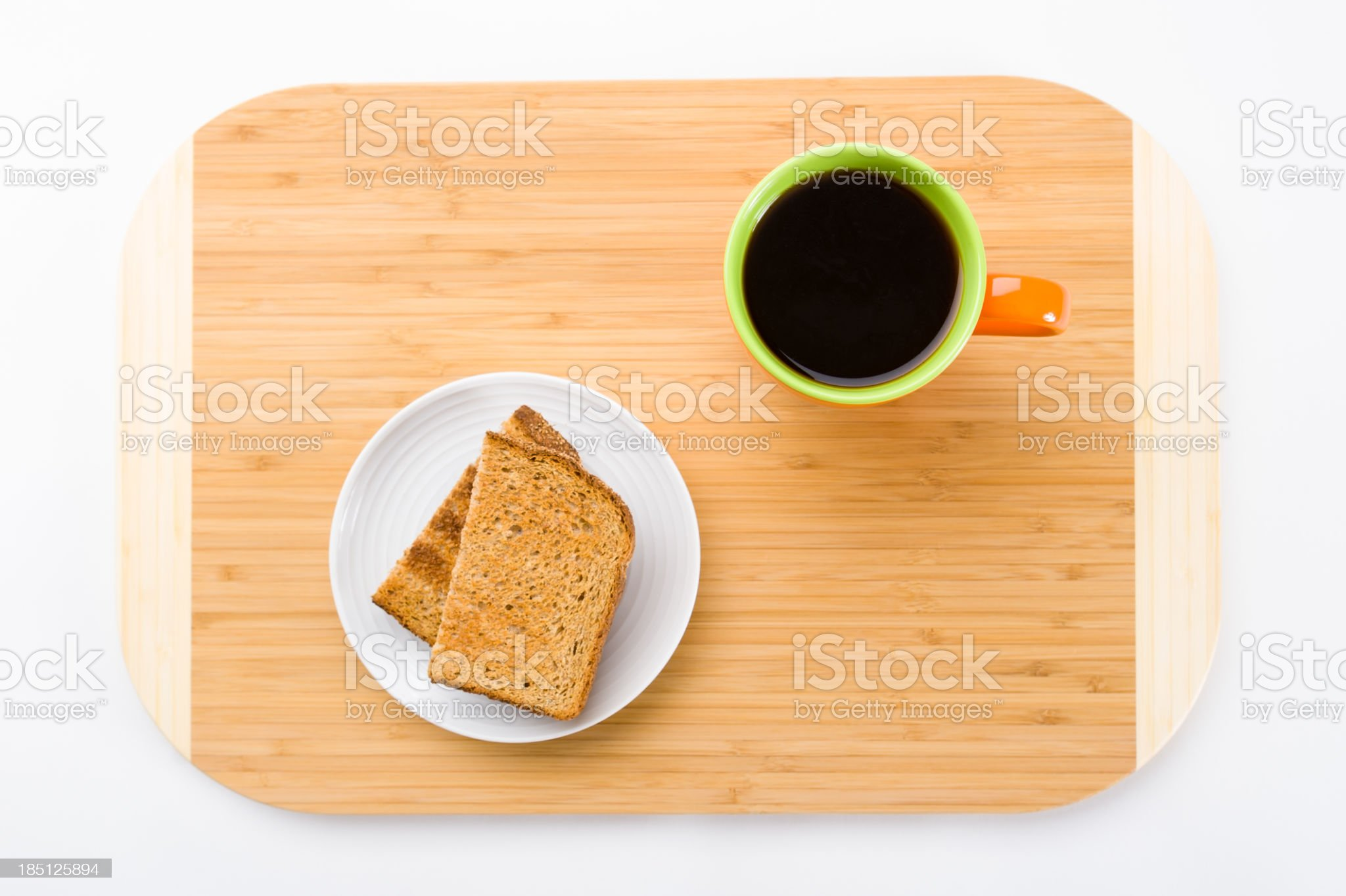 Toast and Coffee Breakfast royalty-free stock photo