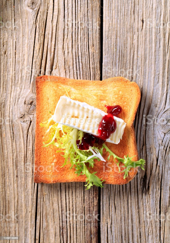 Toast and French cheese royalty-free stock photo