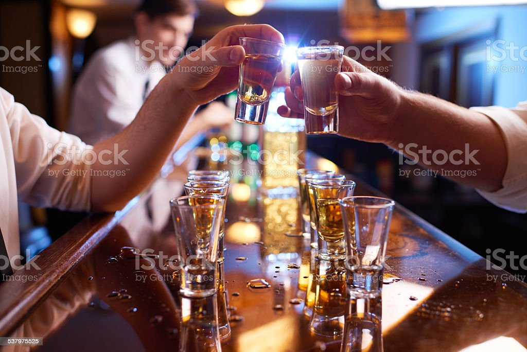 Toast at bar counter stock photo