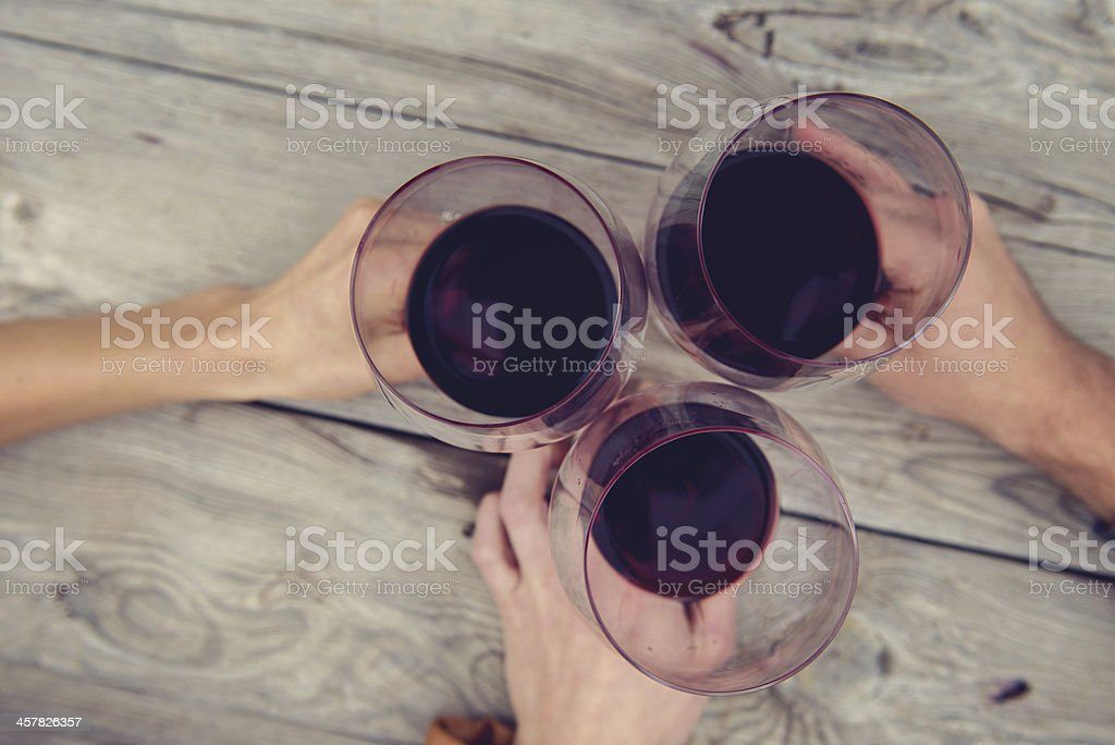 Toast between Friends royalty-free stock photo