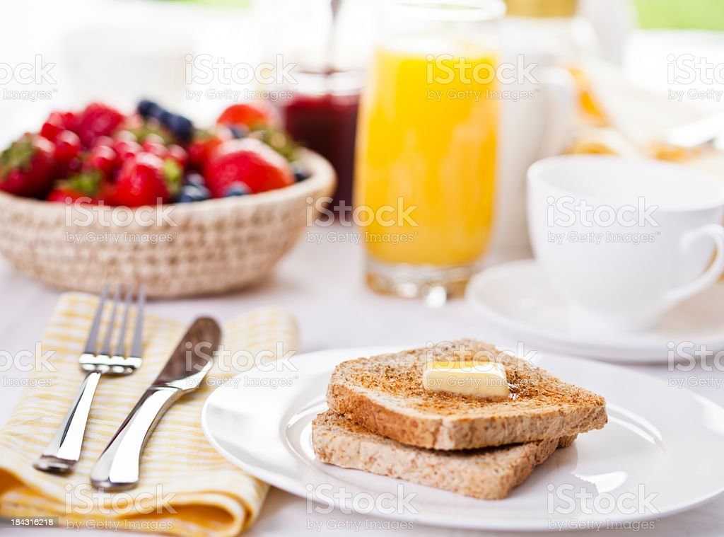 Toast for Breakfast stock photo