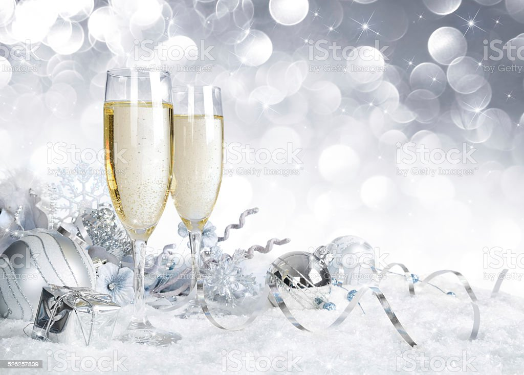 toast for new year stock photo