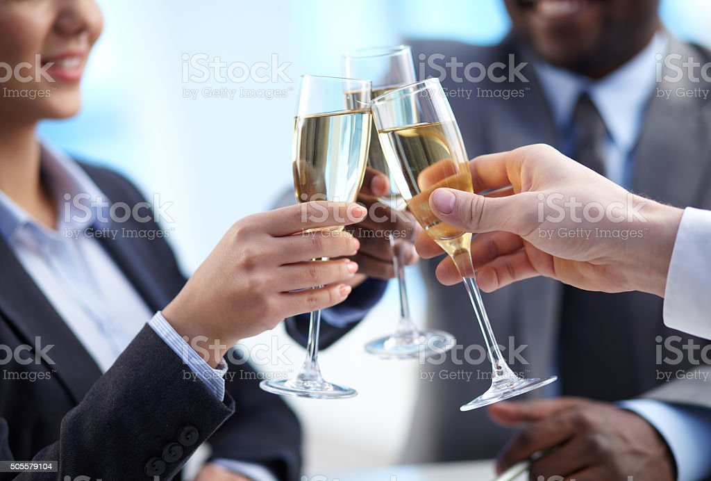 Toast for success stock photo