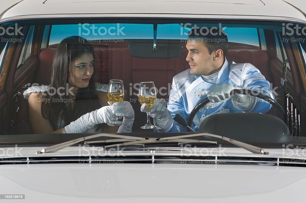 Toast In A Car royalty-free stock photo