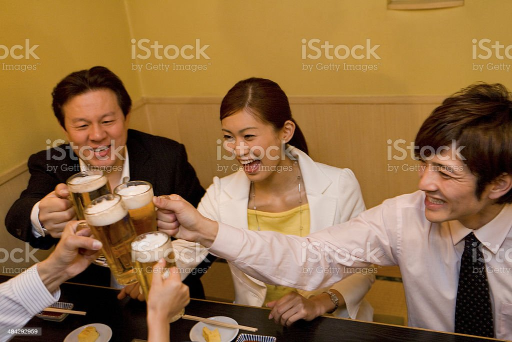 Toast in banquet stock photo