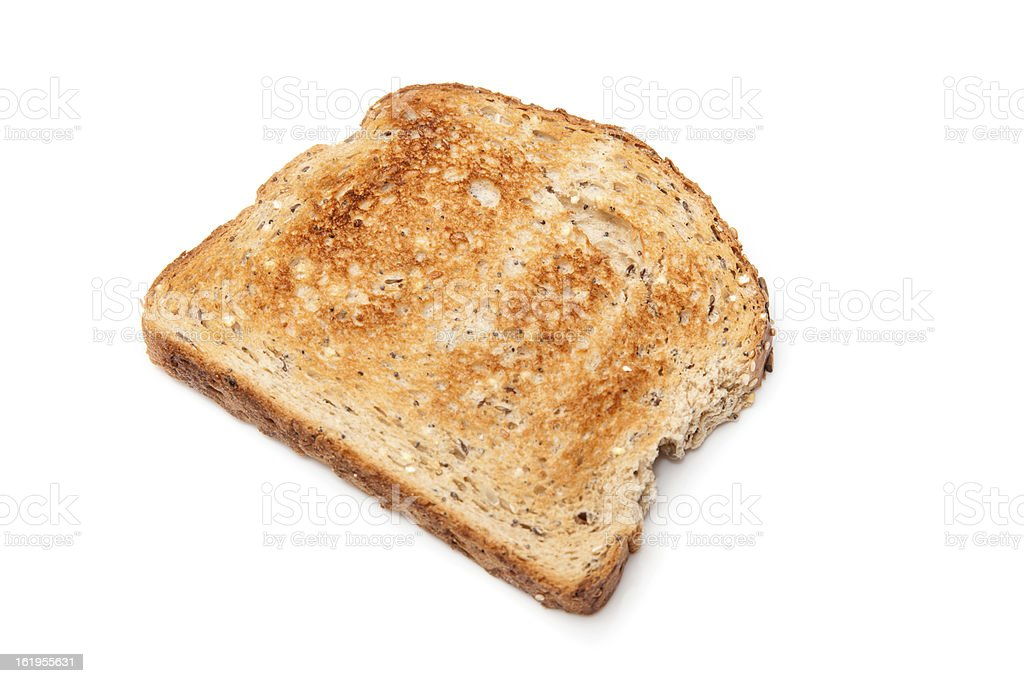 Toast isolated on a white background. royalty-free stock photo