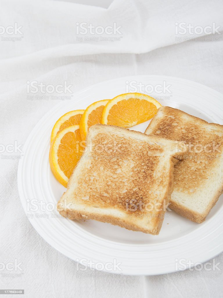 Toast no butter royalty-free stock photo