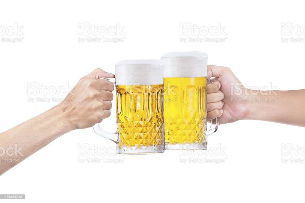 Toast of beer royalty-free stock photo